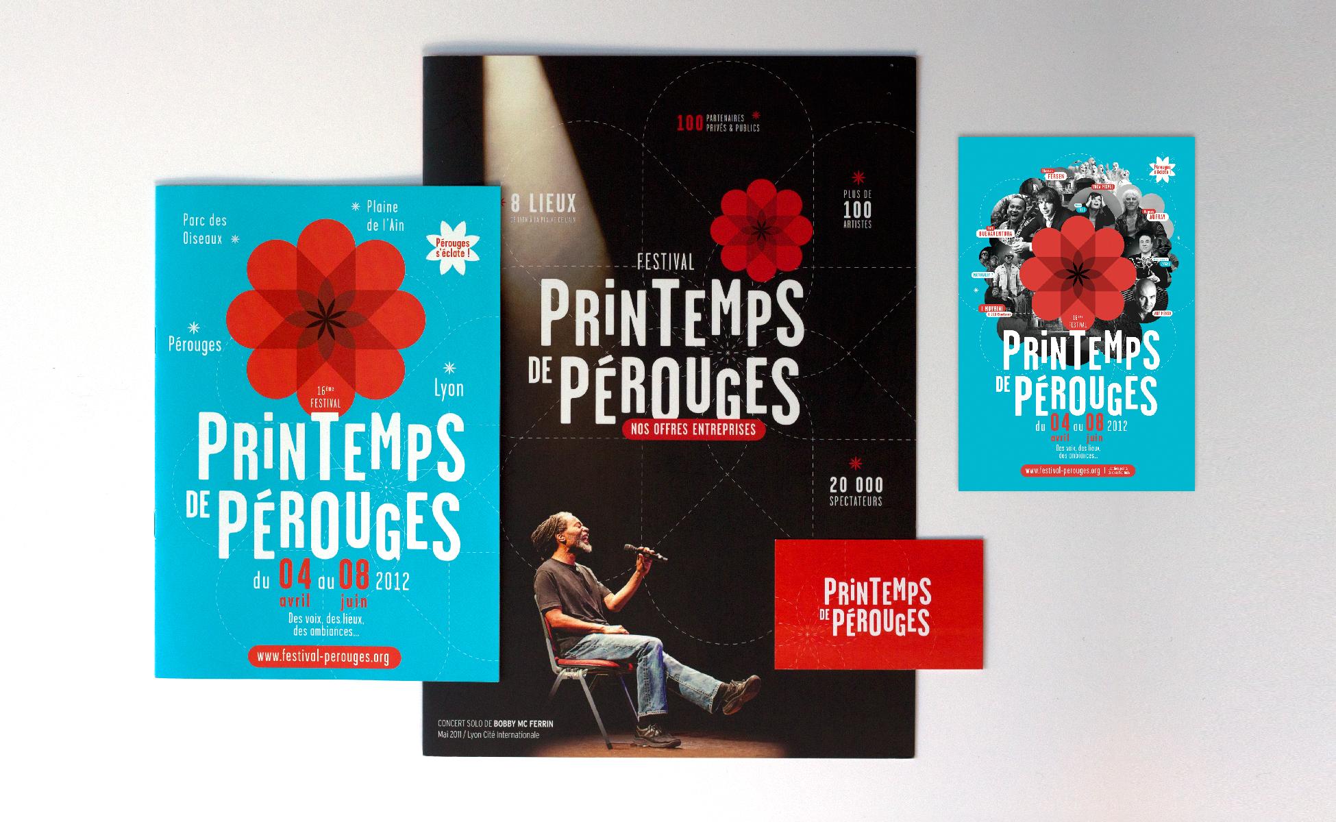 Création des affiches, foyers, programme du festival du printemps de pérouges