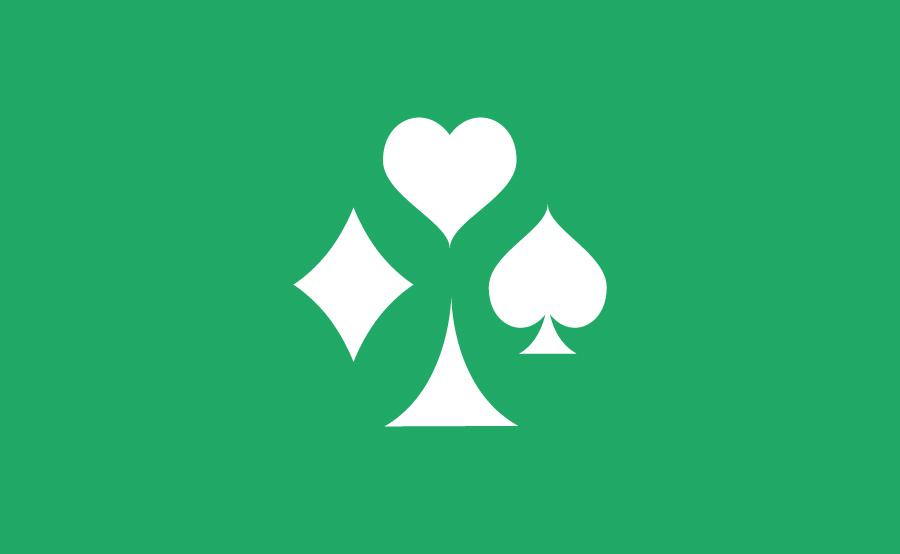 Logo Poker Bridge symboles des cartes à jouer