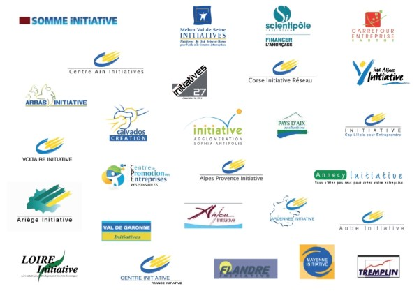 Les anciens logos des entités de France Initiative