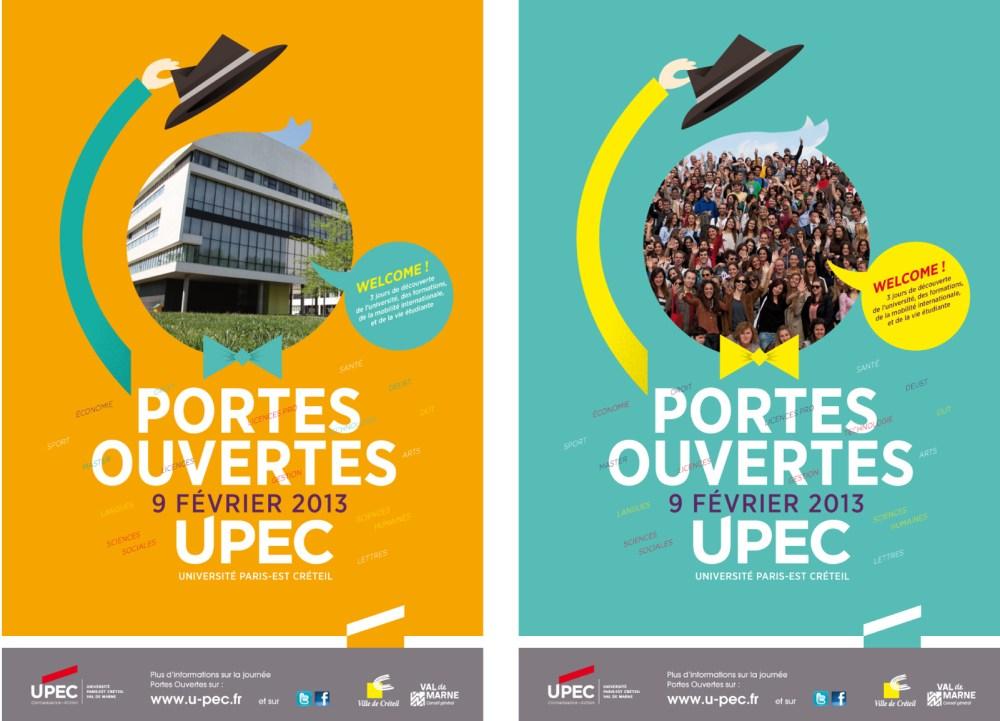 Projet d'affiche illustration 50's Université Paris Est Créteil