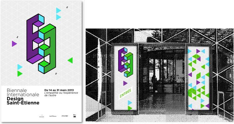 affiche-typographie-triangles