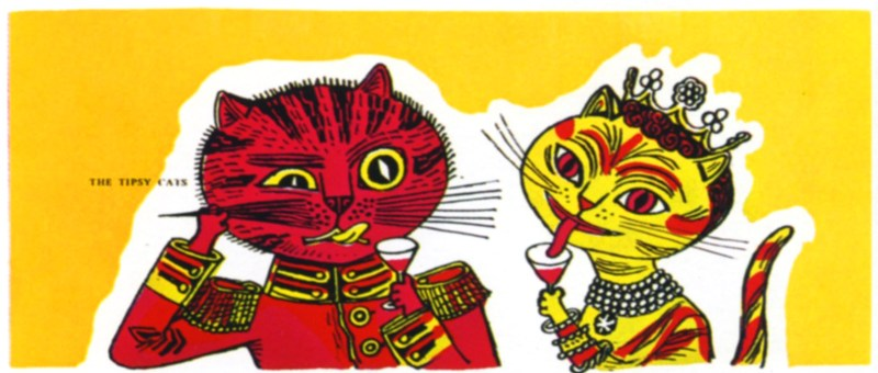 great-illustrations-edward_bawden-graphic-designer-tipsy-cats