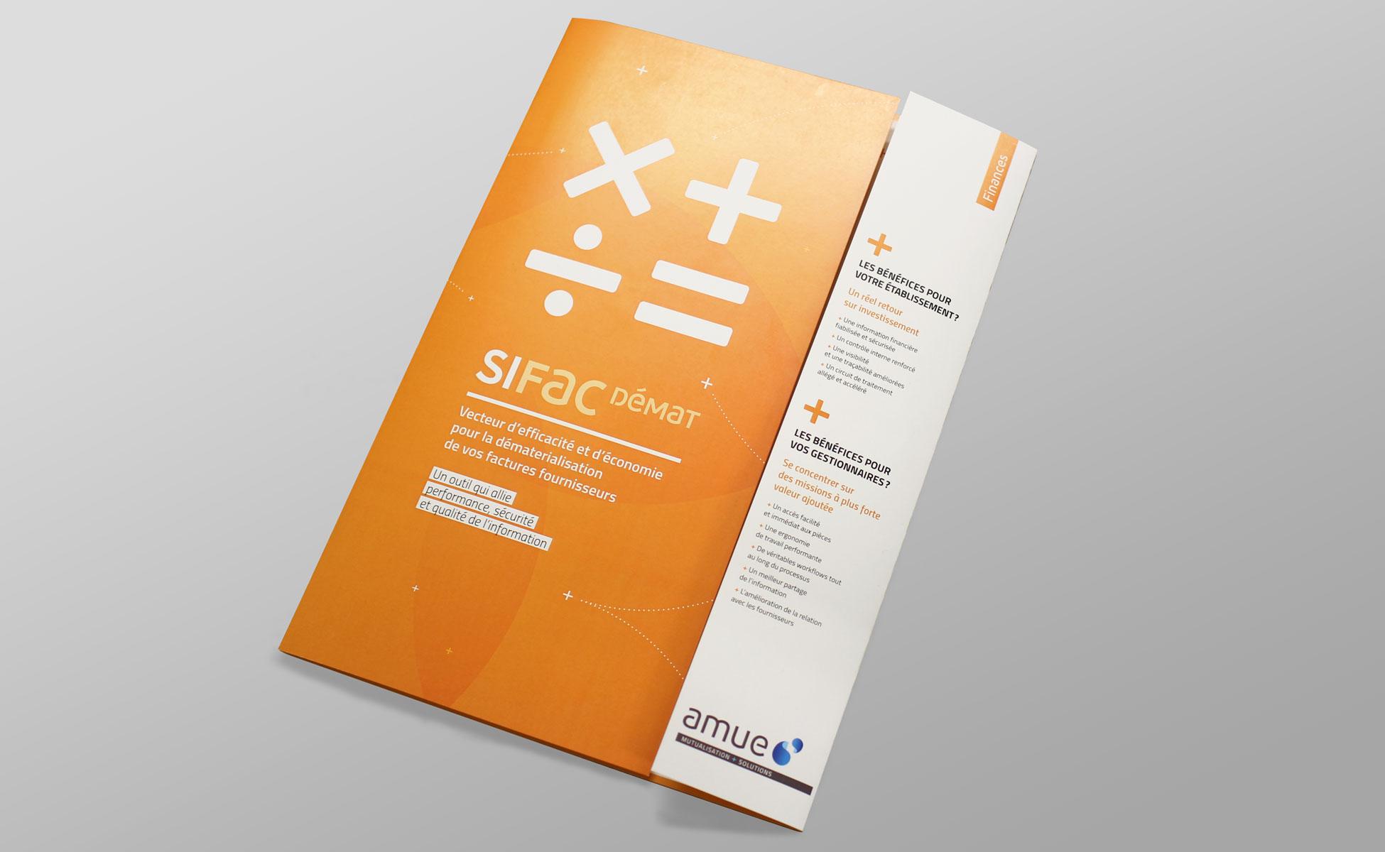 design d'une plaquette Finances - pochette A4