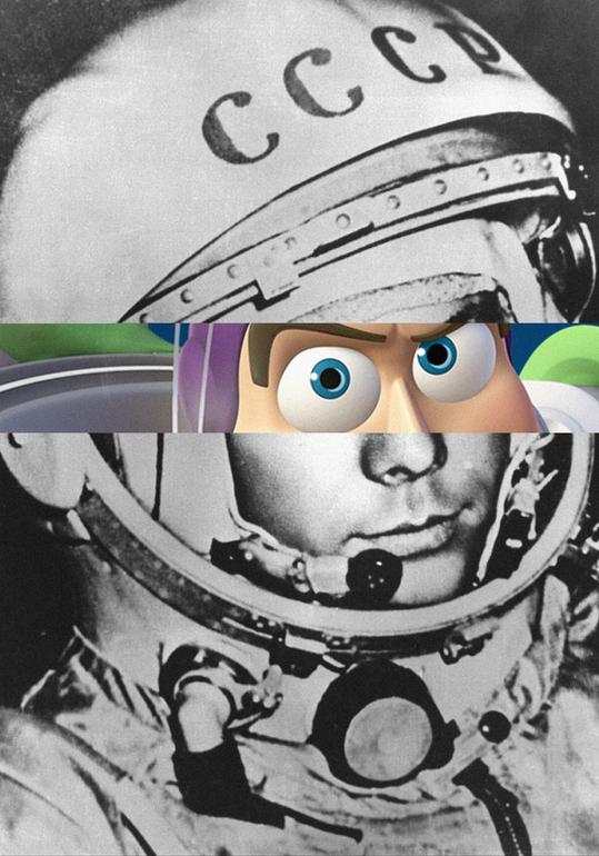 buzz-aldrin-Youri Gagarine-eclair-