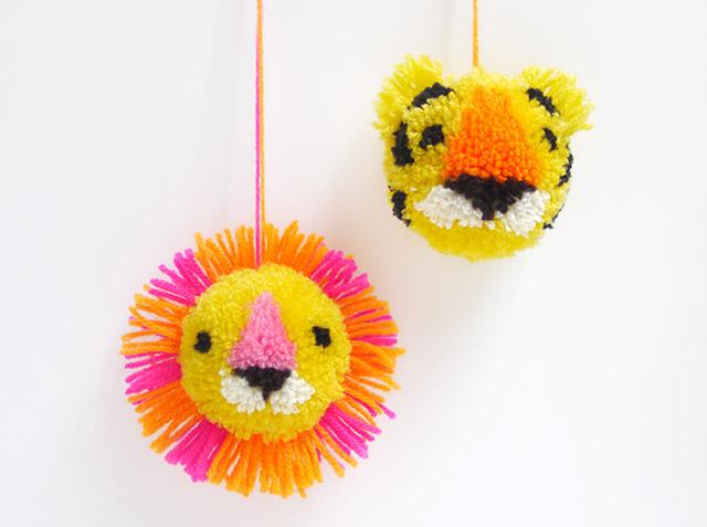 diy-pompons-tigre-lion