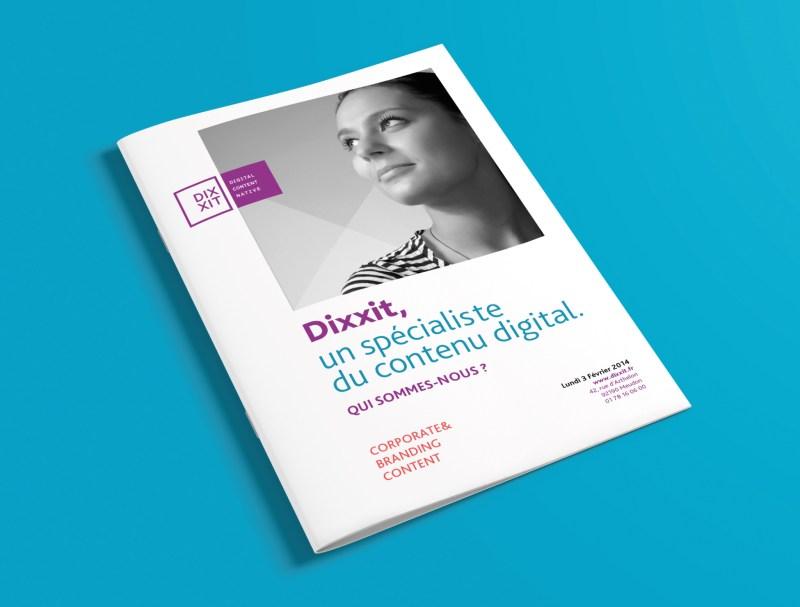 design identité globale, plaquette