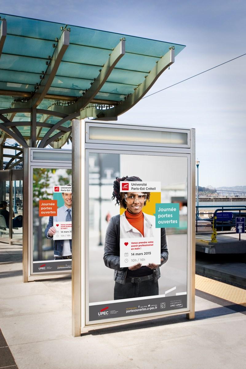 affichage publicité portes ouvertes université Paris