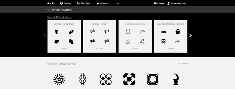 copie_ecran_the nounproject_african_symbols