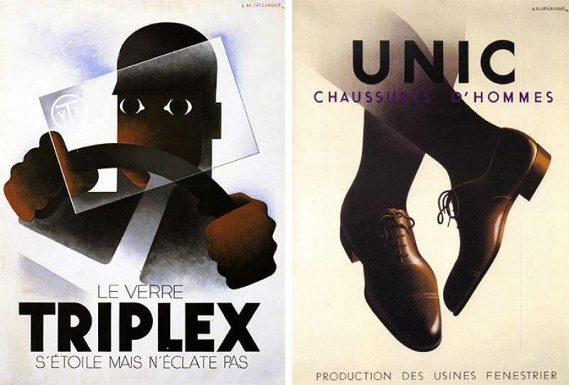 Cassandre-affiches-triplex-unic