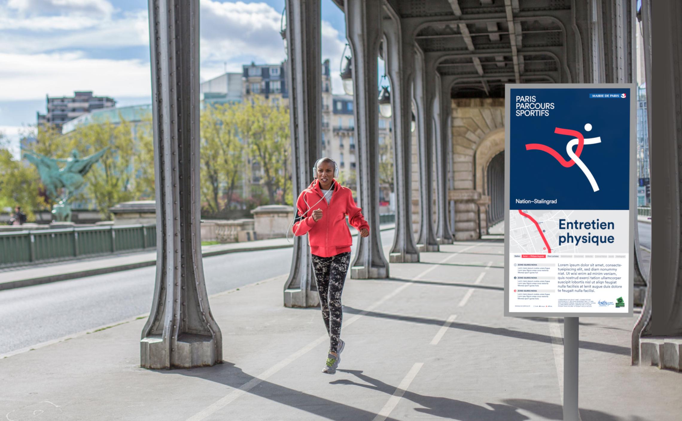 signalétique parcours sportifs parisiens
