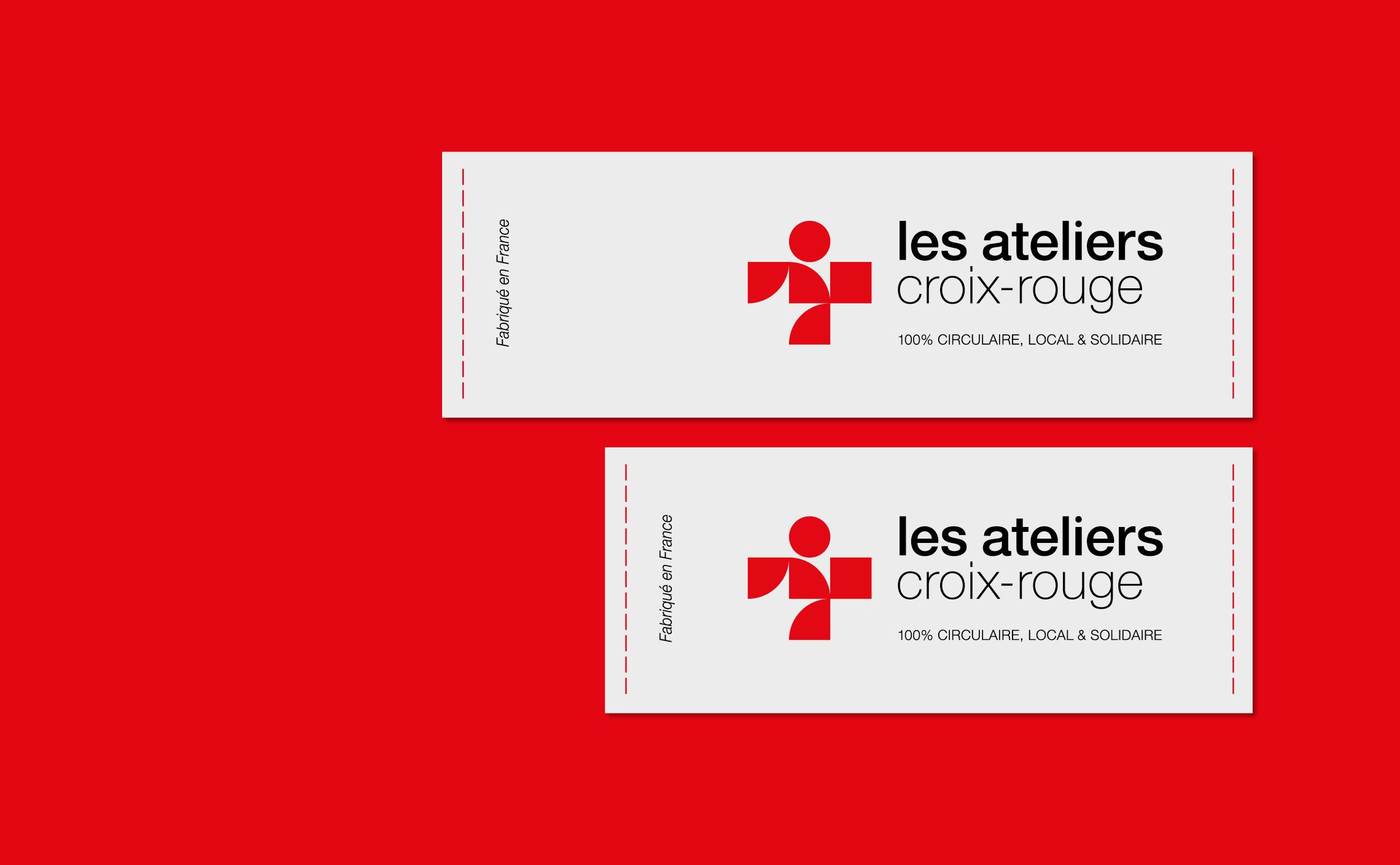 étiquettes crois-rouge ateliers