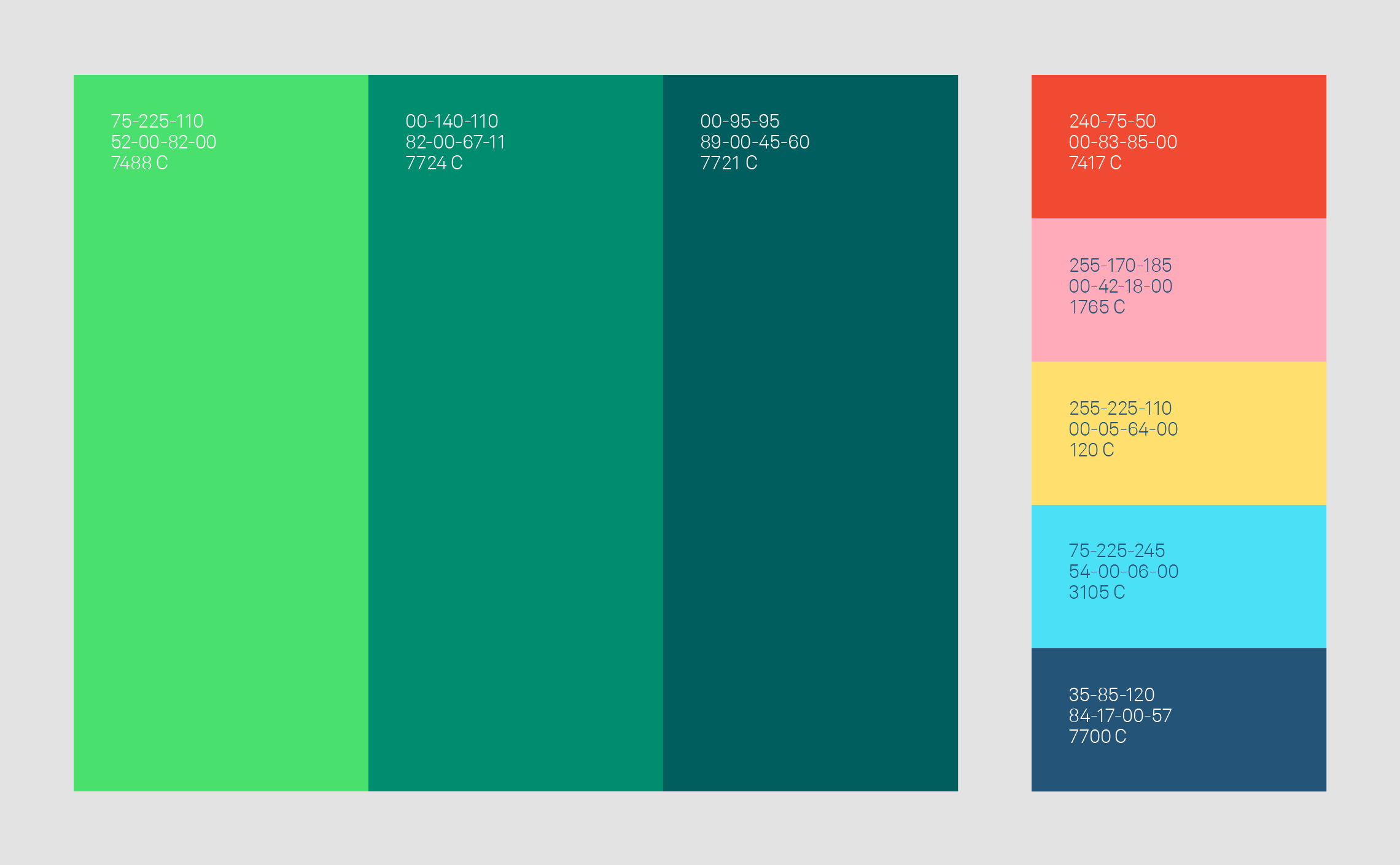 gamme de couleurs écologiques
