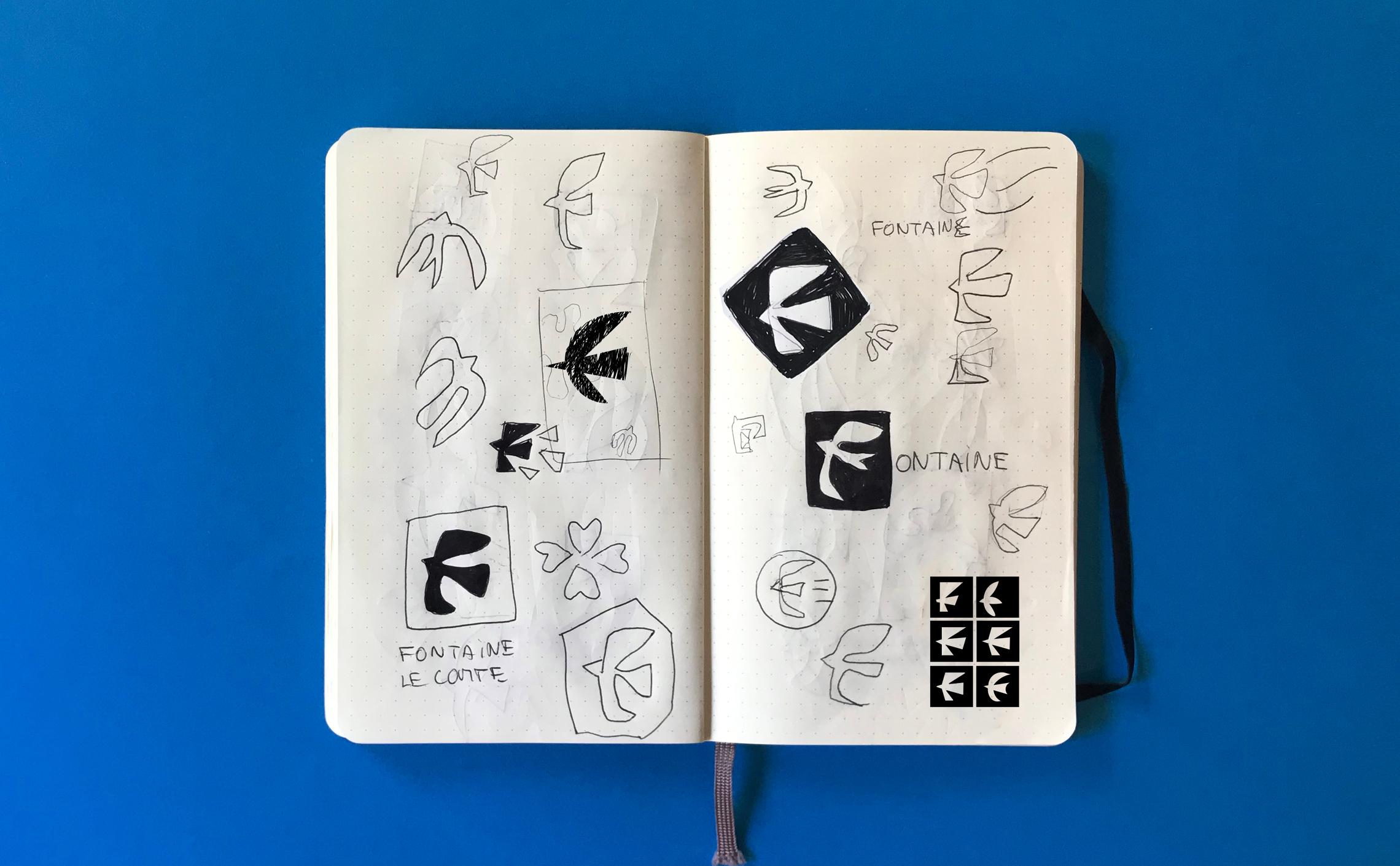 research logo design bird