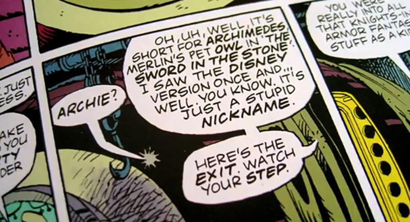 lettrage en comic sans the watchmen