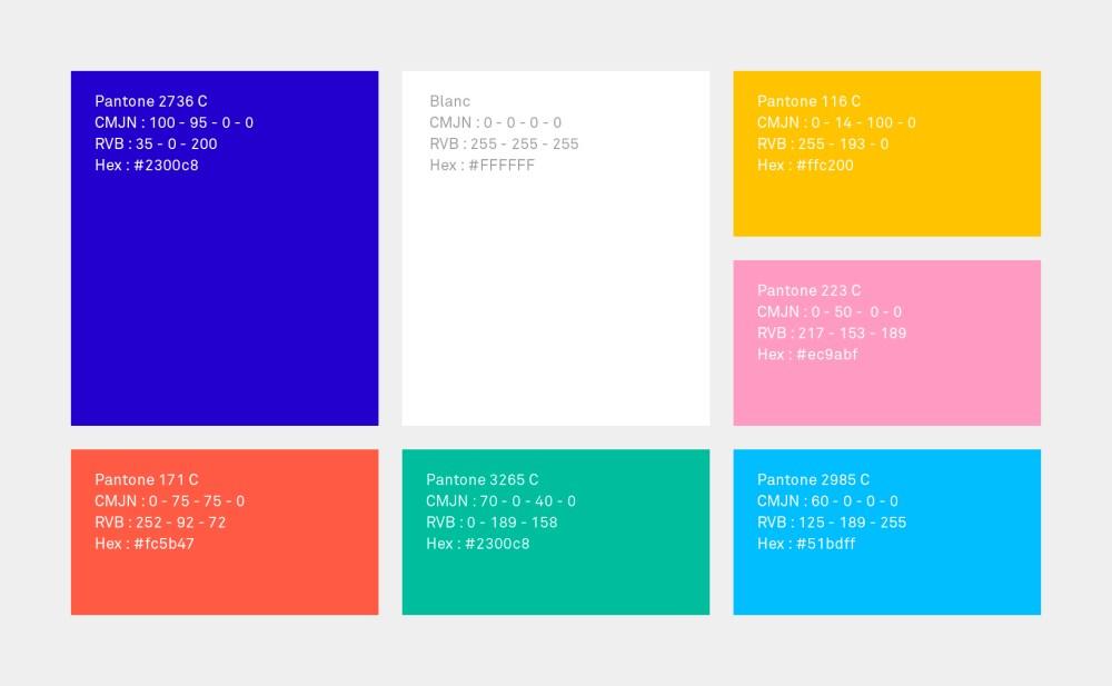 gamme de couleur charte graphique