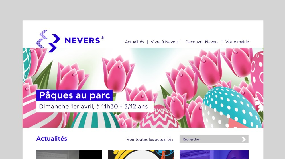 webdesign Nevers site internet de la ville