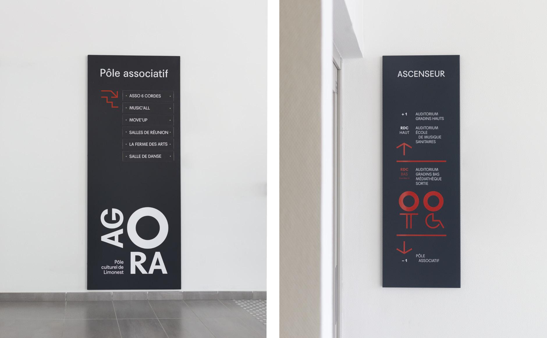 wayfinding signage Cultural center