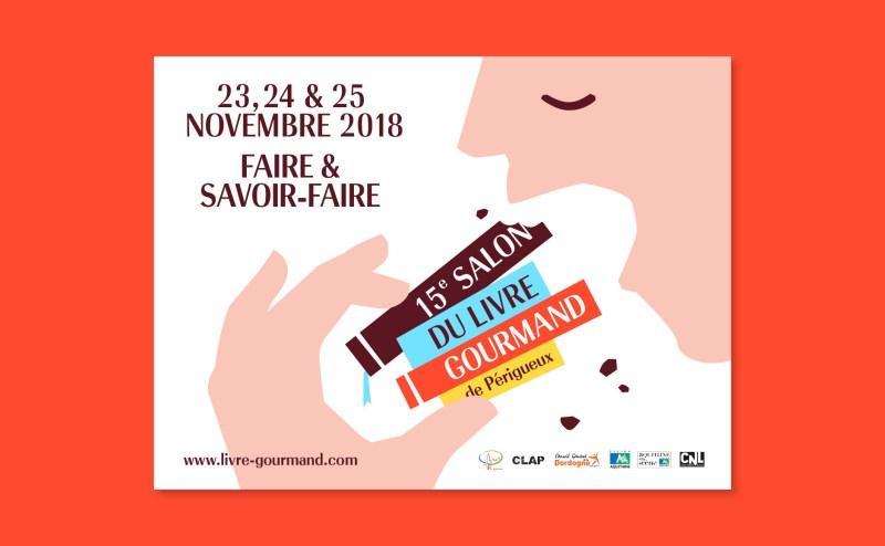 Périgueux Gourmet book Fair poster