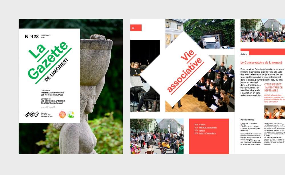 maquette magazine municipale ville de Limonest