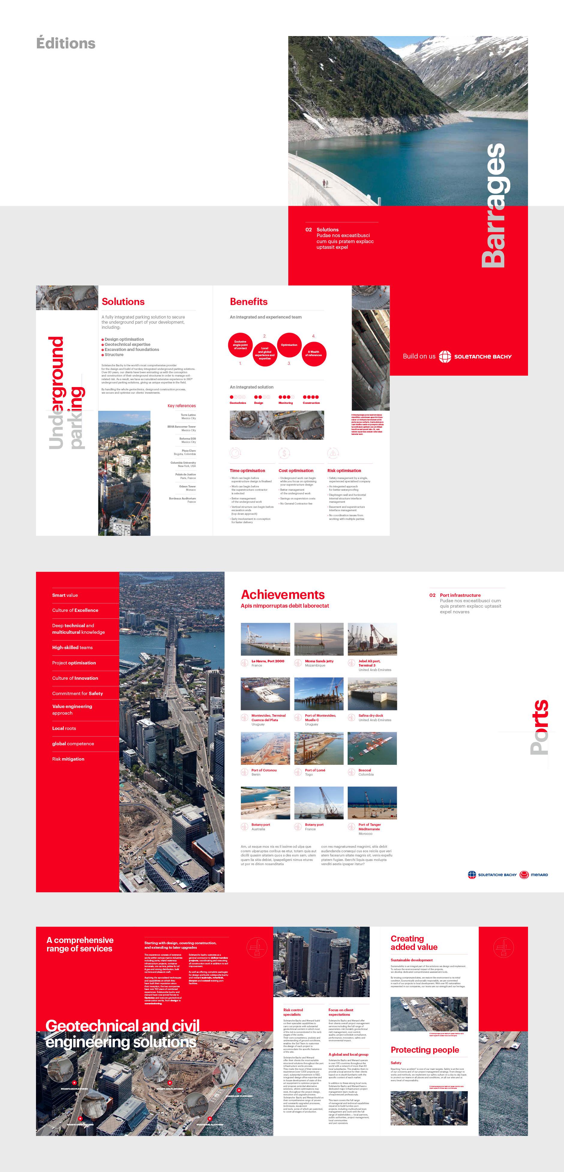Maquette mise en page design brochure Btp
