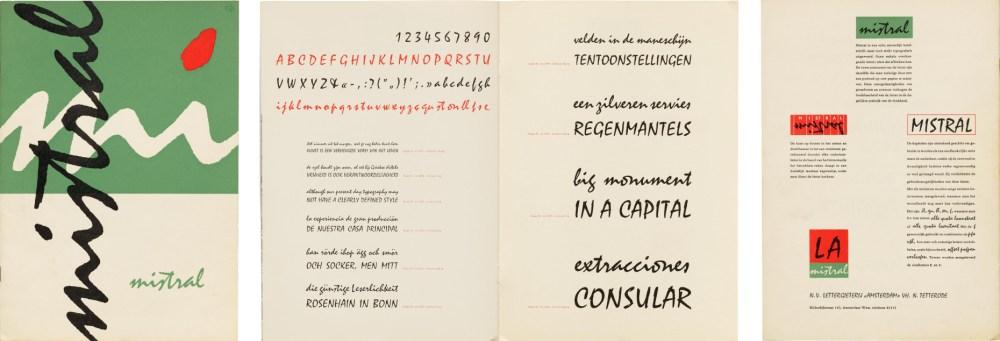 specimen mistral font