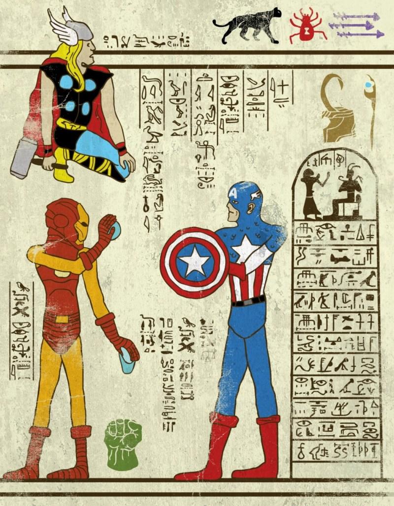 hieroglyphes-Avengers
