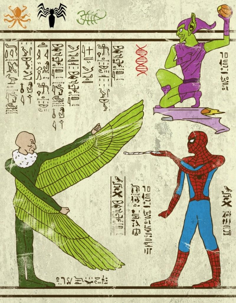 hieroglyphes-spiderman