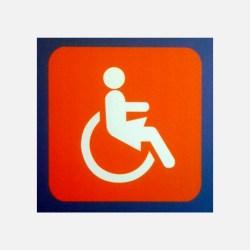 pictogramme handicapée féminin