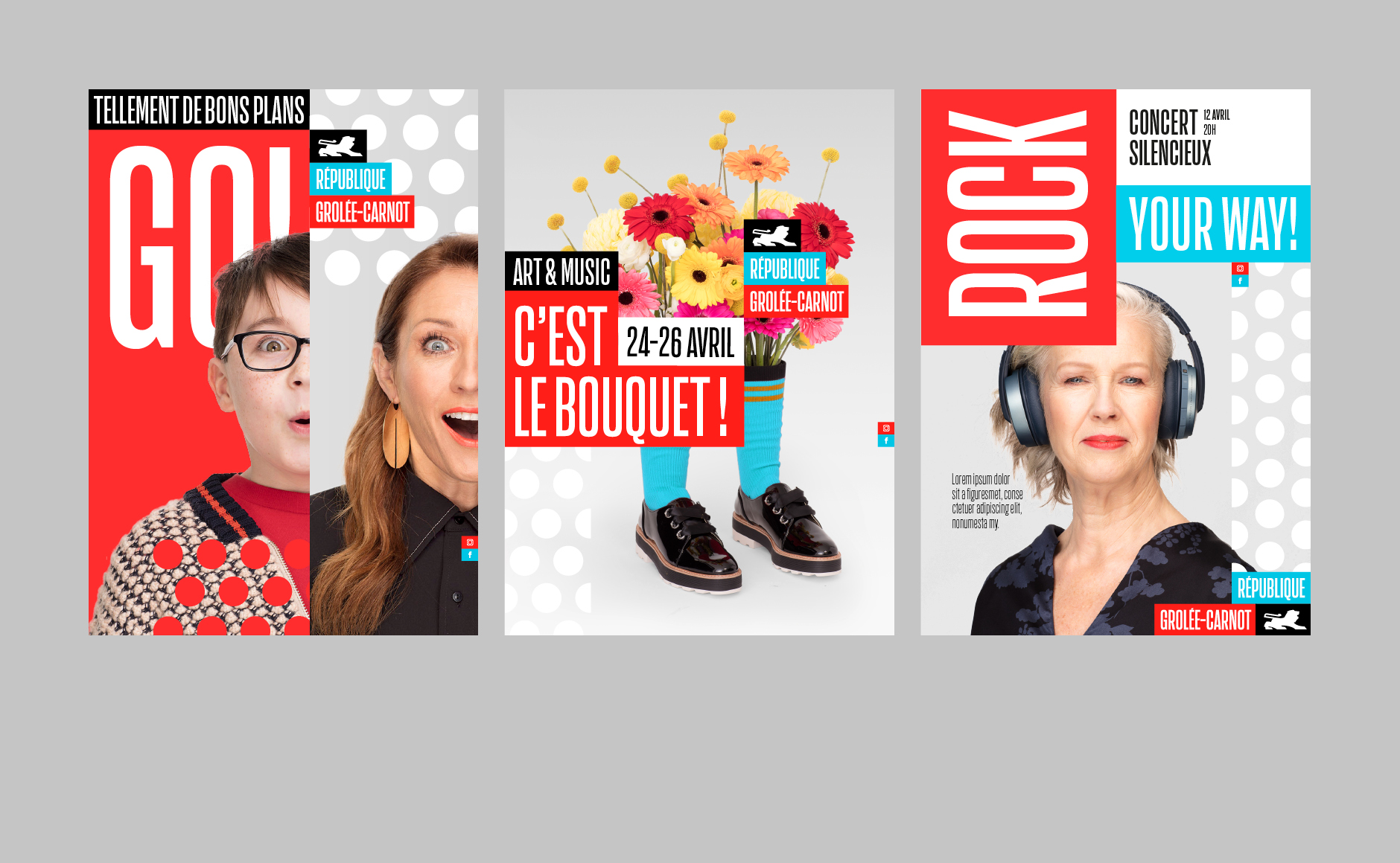 Affiches branding republique street