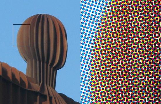 Adobe Photoshop CS2 CMYK color halftone demonstration