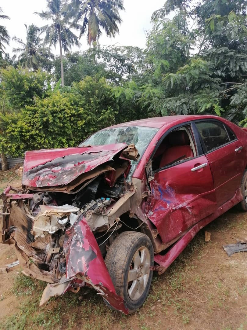 school bus transporting 30 children to school involved in an accident at Agona Swedru 2