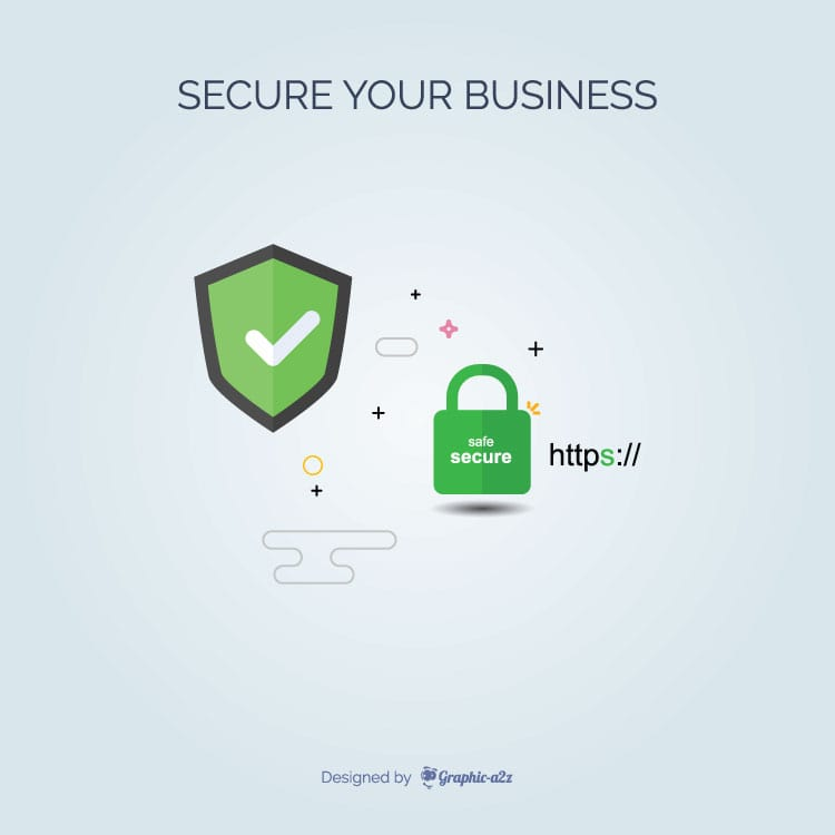 Free vector for Secure Your Business
