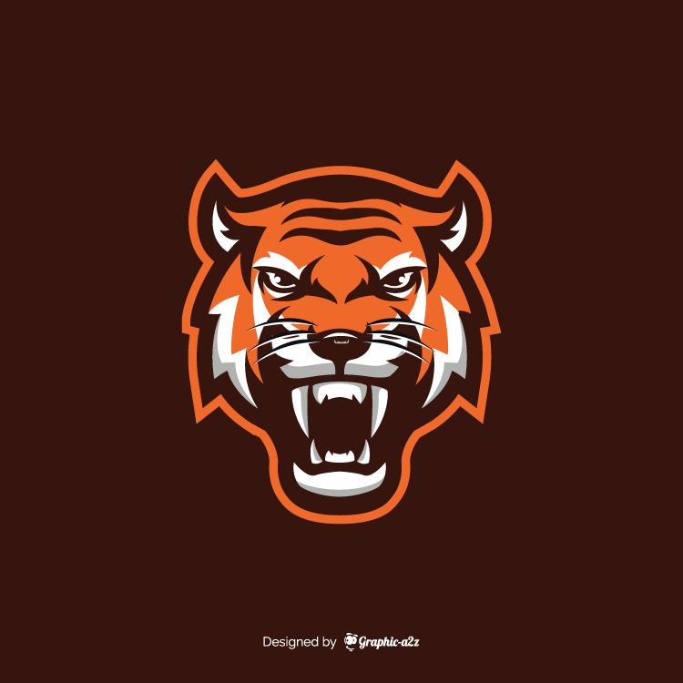 Tiger vector design for logo on Grahic-a2z