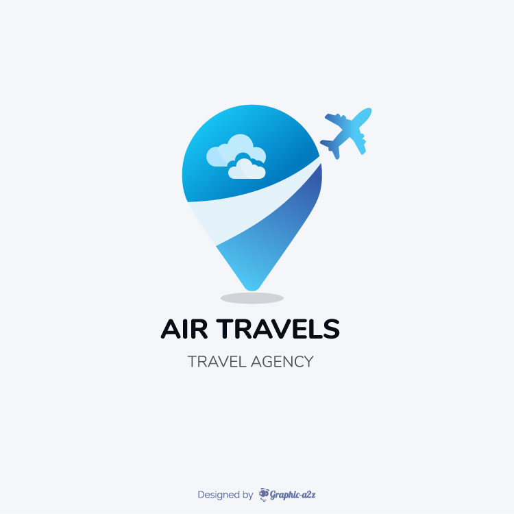 travel agency logo on Graphic-a2z