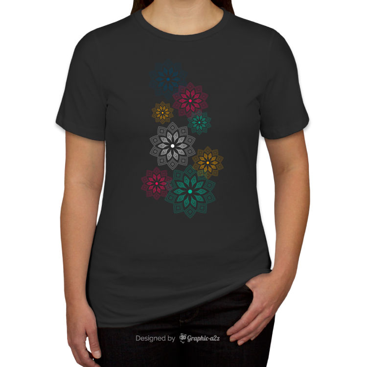 Canvas Women's Jersey T-shirt vector design