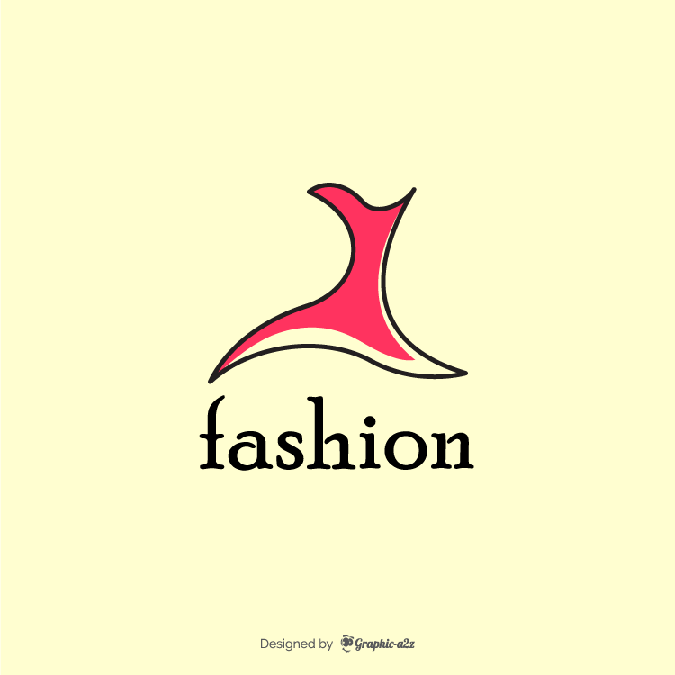 Fashion logo on graphic a2z