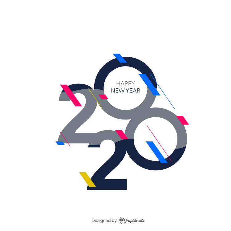 Happy new year 2020 new design on Graphicaz