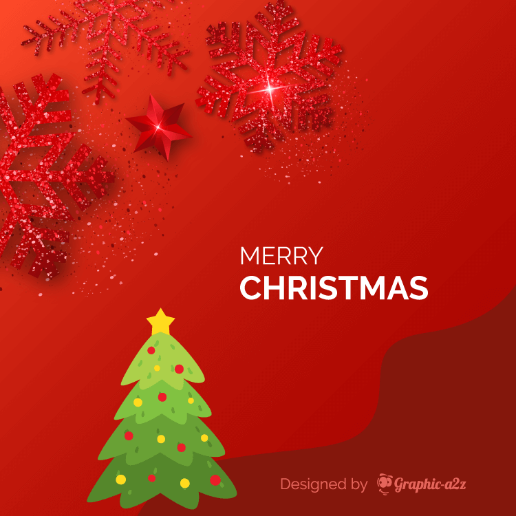 Red color Merry Christmas background
