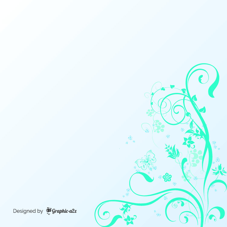 Floral background sets classical curves design on Graphic-a2z