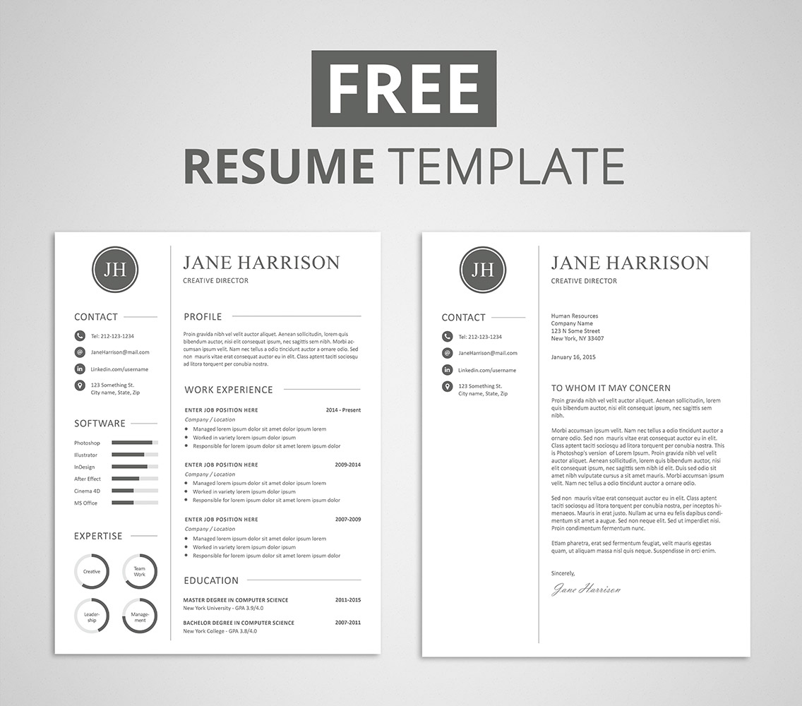 free resume and cover letter template basic resume cover letter
