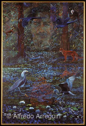 Alfredo Arreguin-Homage to Chico Mendes