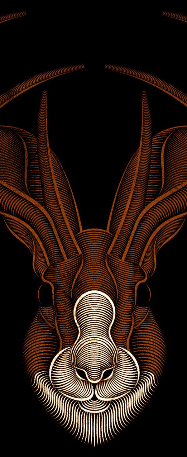 Jackalope (detail) by Patrick Seymour