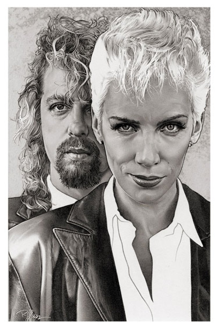 Portrait-Watercolor-Eurythmics Watercolors by Randy Glass Studio
