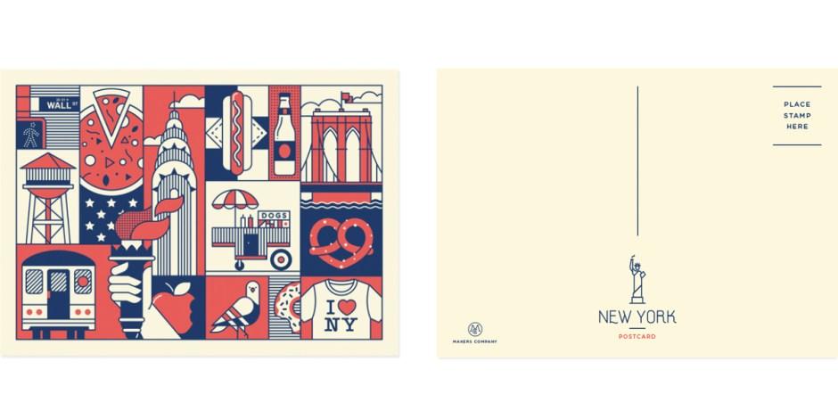 NewYork-postcard-set-2