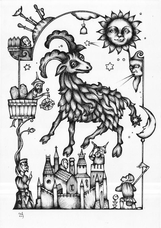 eugene-Ivanov_Ink-drawings-02.00_Aries_Lot-2275.00