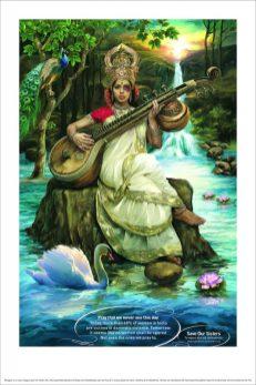 Santosh Padhi / Taproot Dentsu: Indian Goddess Saraswati Save Our Sisters