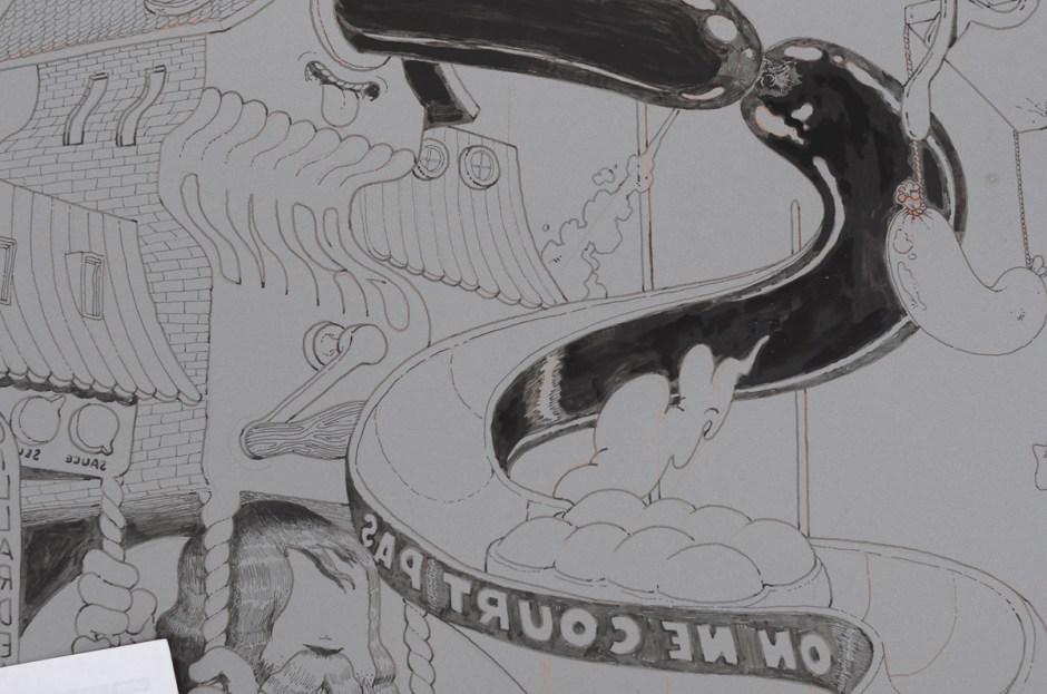 ugo-gattoni-mcbess-sweetbread-lithography-oeuvre-illustration-fine-art-print-collaboration-edition-soldart-33-toboggan-rotie-cartoon-food