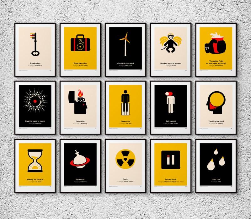 Pictogram Music Posters by Viktor Hertz