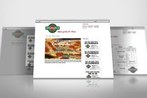 Mobile responsive website for restaurant chain with custom menu and coupon specials in lightbox.