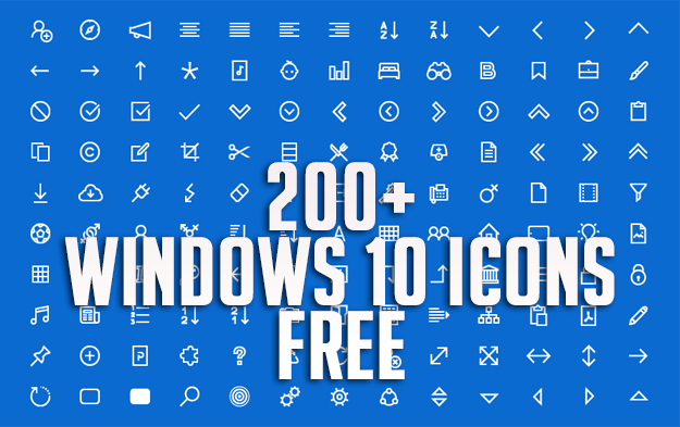 200+ Windows 10 Icons Free Download